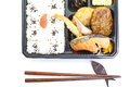 Japanese ready made lunchbox bento on white background Royalty Free Stock Photo