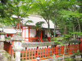 Japanese red shrine Royalty Free Stock Photo