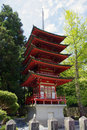 Japanese red tower Royalty Free Stock Image