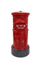 Japanese red vintage mailbox, letterbox, postbox Royalty Free Stock Photo