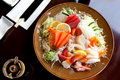 Japanese restaurant plate Stock Photo