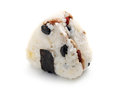 Japanese rice ball onigiri on white background Royalty Free Stock Images