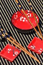 Japanese rice bowls and chopsticks Royalty Free Stock Photo