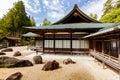 Japanese rock garden unesco world heritage site kongobuji buddhist temple s the largest of this type in japan koyasan japan Royalty Free Stock Photography