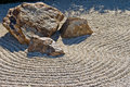Japanese rock gravel garden Stock Photos