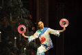 Japanese round fan the japanese envoy the second act second field candy kingdom the ballet nutcracker ukraine kiev theatre dancers Stock Photography