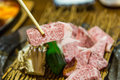 Japanese saga raw beef for grill and steak Stock Photo