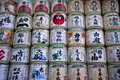 Japanese sake barrels Royalty Free Stock Photography