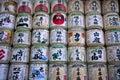 Japanese sake barrels Royalty Free Stock Photo
