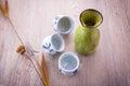 Japanese Sake drinking set Royalty Free Stock Photo