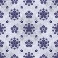 Japanese Sakura shape flower circle seamless pattern Royalty Free Stock Photo