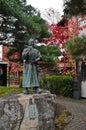 Japanese Samurai ancient warrior in heritage village in Autumn K Royalty Free Stock Photo