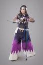Japanese samurai with katana sword Royalty Free Stock Photo