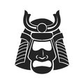 Japanese samurai mask warrior Royalty Free Stock Photo