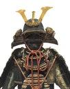 Japanese samurai warrior helmet and armor isolated Royalty Free Stock Photo
