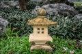 Japanese sandstone lantern Royalty Free Stock Photo