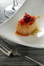 Japanese scallop with xo sauce Royalty Free Stock Photography