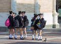 Japanese schoolgirls Royalty Free Stock Photo