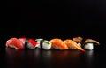 Japanese Seafood Sushi, On Bla...