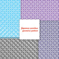 Japanese seamless geometric pattern set graphic vector Stock Photography