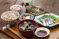 Japanese set meal Royalty Free Stock Photo