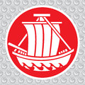 Japanese ship vector traditional symbol of the Stock Photography