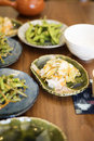 Japanese side dishes Royalty Free Stock Photo
