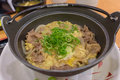 Japanese Simmered Beef and Rice Bowls Recipe Gyudon Royalty Free Stock Photo