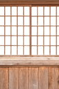 Japanese sliding paper door texture of shoji Stock Images