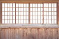 Japanese sliding paper door texture of shoji Stock Photos