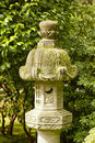 Japanese stone lamp decoration in the garden Royalty Free Stock Photos
