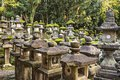 Japanese stone lanterns nara japan at kasuga taisha shrine Stock Photos