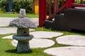 Japanese Stone Lanterns,Outdoor Garden Lighting Royalty Free Stock Photo