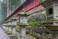 Japanese stone lanterns Royalty Free Stock Photo