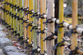 Japanese style bamboo fences in japan garden Stock Images