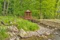 Japanese style bridge Royalty Free Stock Photo