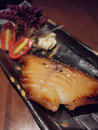 Japanese style grilled cod Royalty Free Stock Images