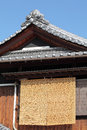 Japanese style house general with blue sky Royalty Free Stock Image