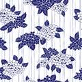 Japanese style hydrangea pattern,