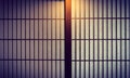 Japanese style sliding door Royalty Free Stock Photo