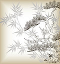 Japanese style tree Stock Image