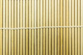 Japanese sushi bamboo mat texture Royalty Free Stock Photo