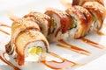 Japanese sushi with eel Royalty Free Stock Photo