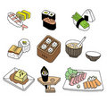 Japanese sushi food Royalty Free Stock Photos