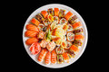 Japanese sushi on a plate Royalty Free Stock Photography