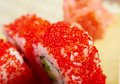 Japanese sushi  -red roe Royalty Free Stock Photo