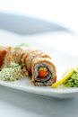 Japanese sushi roll Royalty Free Stock Photo