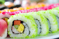 Japanese sushi rolls Stock Photo
