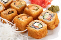 Sushi rolls close up Royalty Free Stock Photo