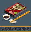 Japanese Sushi Set Concept